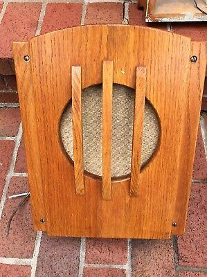 """Vintage Wood Wall Speaker Cabinet With 8"""" OPERADIO Speaker - Very Nice"""