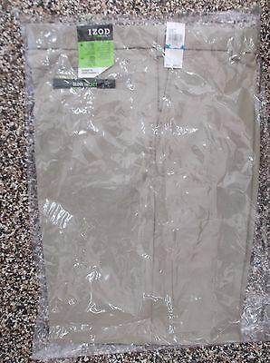 NWT Men's Izod Flat Front XFG Golf Pants  Khaki 36 x 32