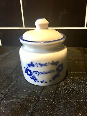 Vintage Retro French Moutarde Mustard Pot Ceramic Collectable Kitchenalia