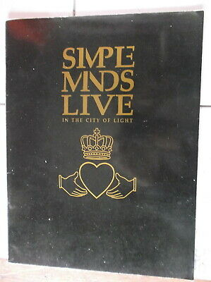SIMPLE MINDS LIVE BEST OF ROCK MUSIC SONG BOOK FOR PIANO WARNER BROS PUB 1987