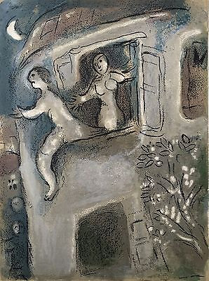 Marc Chagall - Verve - David saved by Michal (M.250) - Two Original Lithographs!