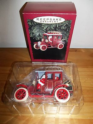 NIB 1993 Hallmark Shopping With Santa - Keepsake Ornament - True Factory Mint!