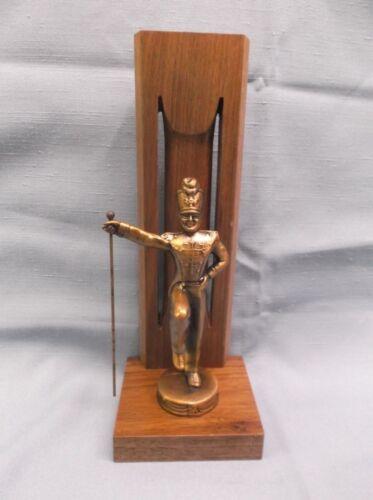 solid walnut backdrop award trophy cast metal bronze male  band major