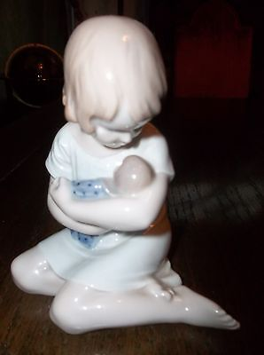 """Royal Copenhagen: Porcelain - 5.5"""" YOUNG GIRL WITH DOLL # 1938  140801007"""