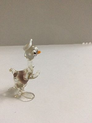 Glass Donald Duck Figure,Glass Donald Duck Ornament,Murano Glass