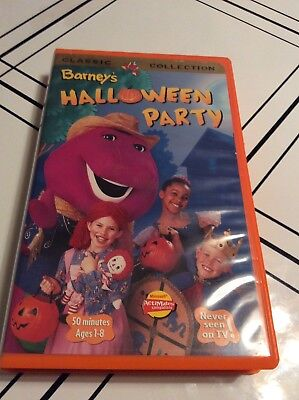 Barneys Halloween Party VHS Tape 1998 Clamshell Case Never Seen on TV 50 Minutes](Tv Character Halloween Party)