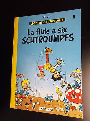 La flute à six Schtroumpfs 1975 PROCHE DU NEUF Johan et Pirlouit Peyo