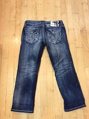 👖Mek Denim Capri Cropped Jeans Low Rise Oaxaca Distressed Size 27 👖
