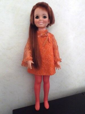 "VINTAGE 1969 IDEAL ""CRISSY DOLL"" AUBURN GROW HAIR~ORIGINAL DRESS"