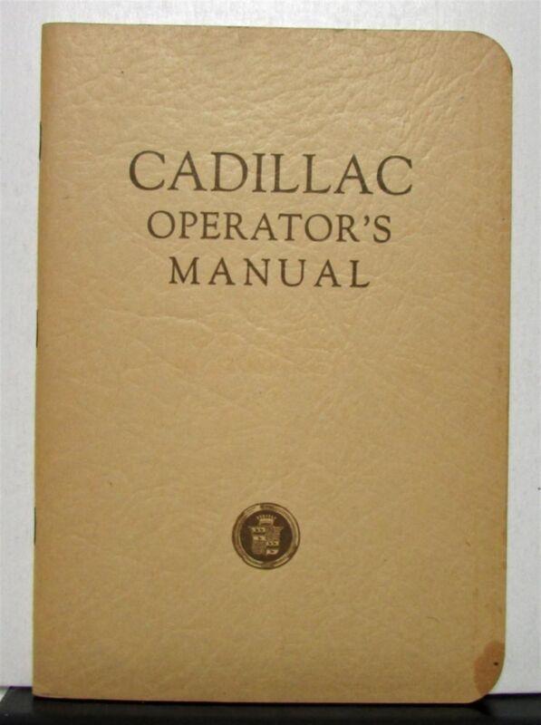 1932 Cadillac Model 355B Operators Owners Manual Original