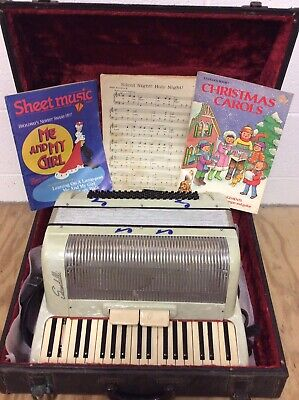 Scandalli 111 Bass Accordion Pearl 248/72 Made In Italy 37 Keys SHIPS FREE