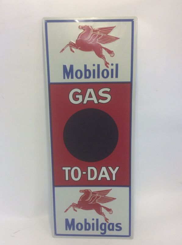 Mobiloil, Mobilgas  Gas To-Day Double Pegagus Metal Sign