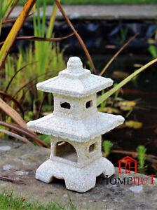 Pagoda Garden Chinese, Japanese Ornament Sculpture Lantern Decor Patio  Ceramic