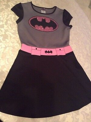 DC Comics Batgirl costume dress Size 14/16 XL gray pink black  New girl