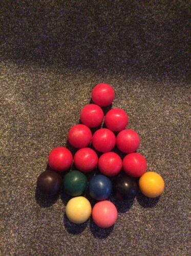 Vintage Snooker Balls 1 3/4
