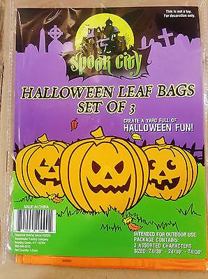 Halloween Pumpkin Bat (Halloween Pumpkin or Ghost/Bat/Cat Leaf Bags-Set of)