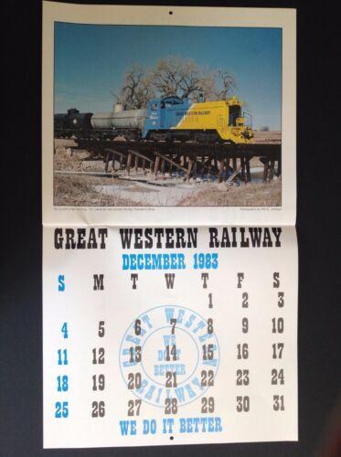 Great Western Railway Railroad 1983 Calendar Colorado  Print Poster