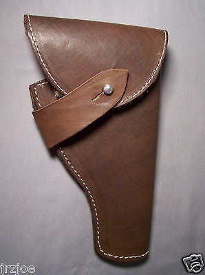 10 INCH DARK BROWN GUN HOLSTER INDIANA JONES  GUN HOLDER STYLE REPLICA