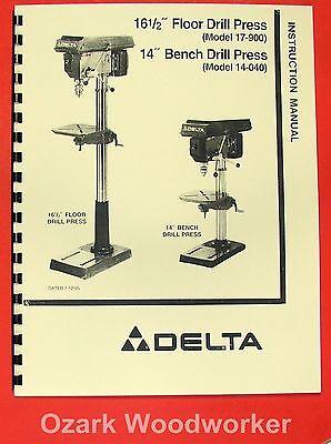 Delta -rockwell 17-900 14-040 16.5 Drill Press Operators Parts Manual 0202