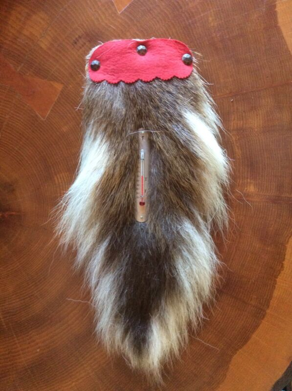 Deer Tail Thermometer Plaque