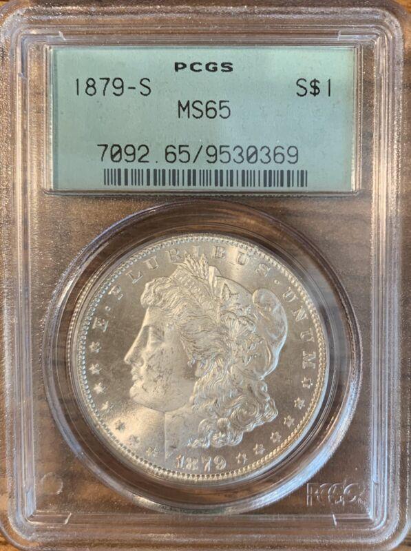Morgan Silver Dollar 1879 - S MS 65 - PCGS