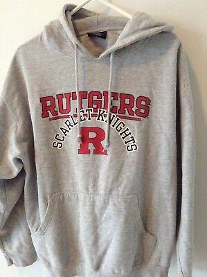 Rutgers University Scarlet Knights Hooded Sweatshirt Pullover Hoodie Mens Sz Xl