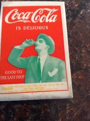 """Vintage Coca Cola Pocket Mirror 2 X 3"""" Collectible"""