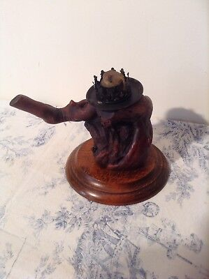 Vintage French Grape Vine Wood Wooden Candlestick / Candle Holder (3065)