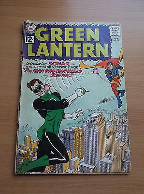 DC: GREEN LANTERN #14, 1ST APPEARANCE OF SONAR, GIL KANE'S ART, 1962, VG+ (4.5)!