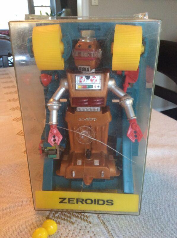 RARE Vintage Ideal ZEROIDS ZOBOR robot In Original Case