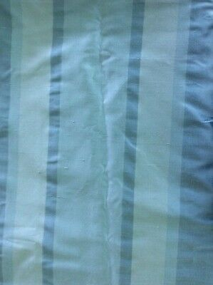 """6 Silk Celadon Striped 84"""" Lined Drapery Panels By Bloom Craft Home"""