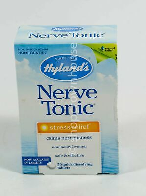 Hylands NERVE TONIC TABLETS homeopathic 50 tablets Natural Stress Relief NIB Hylands Homeopathic Nerve Tonic