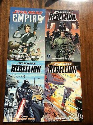 Star Wars Rebellion Volumes 1,2,3 Empire Vol 4 Graphic Novels Dark Horse