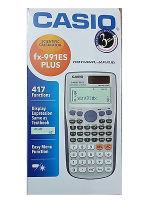CASIO FX-991ES PLUS  ADVANCED SCIENTIFIC CALCULATOR For GCSE's & A Level Exam.