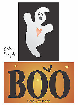 Stencil Halloween Ghost BOO Bat Stars Country Holiday Seasonal Prim Country sign
