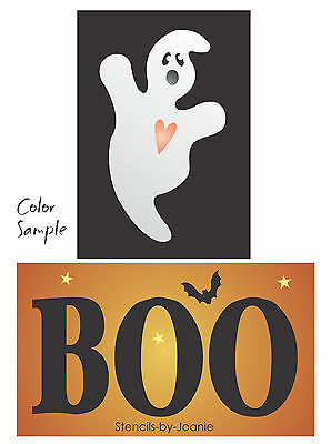 Stencil Halloween Ghost BOO Bat Stars Country Holiday Seasonal Prim Country sign ()