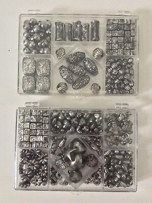 2 Kits Plastic Kids Children Bead Set Jewelry Making Craft Bracelet Necklace NEW