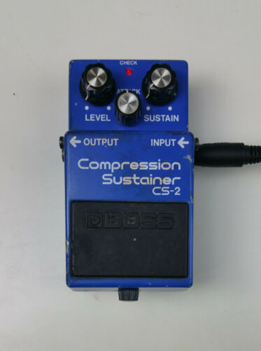 Boss CS-2 Compression Sustainer Guitar Effects Pedal VINTAGE