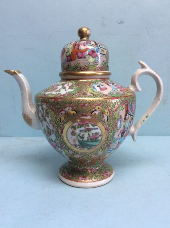 "Rose Medallion Teapot 10 "" Tall"