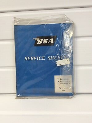 NEW BSA SERVICE SHEETS BOOKLET 125 150 175 TWO STROKE D GROUP MODELS