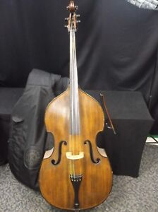 3/4 Upright Double Bass, with Soft Case and Bow