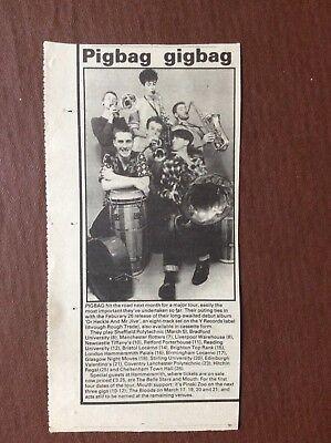 K1m Ephemera 1982 Article Pigbag Tour Dates Gigbag