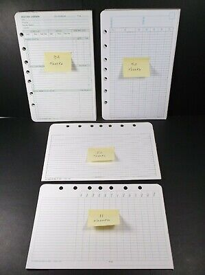Vintage 1980s Day-timer Planner Paper Refills For 7-ring Planner Mixed Lot
