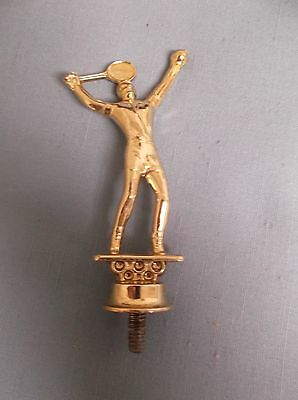 Lb Vintage Metal Tennis Player Black Marble Heavy Approx 4 Other Decorative Collectibles