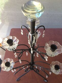 Wrought Iron & Crystal Candelabra in Great Condition South Yunderup Mandurah Area Preview