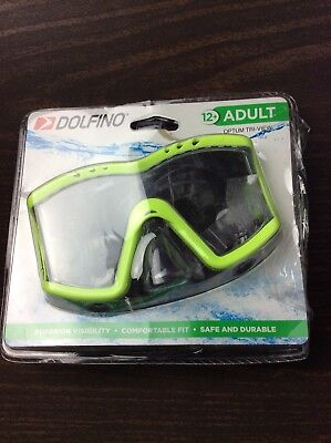 Youth A2 Dolfino Swim Mask Hot Yellow Wide-Angle View Comfortable Fit 7