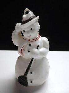 ancienne boule de noel en plastique bonhomme de neige kleeware ebay. Black Bedroom Furniture Sets. Home Design Ideas