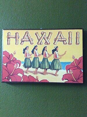 Hawaiian Luau Pictures - NEW  Hawaii Picture Hula Girls Wooden Tropical Luau Hawaiian Wall Art Decor