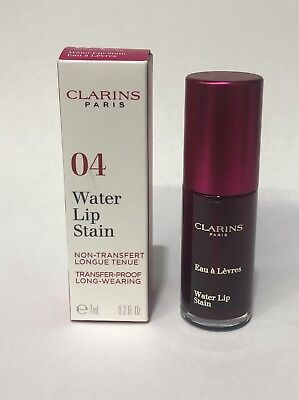 Clarins Water Lip Stain 04 transfer-proof long-wearing 0.2oz/ 7ml -