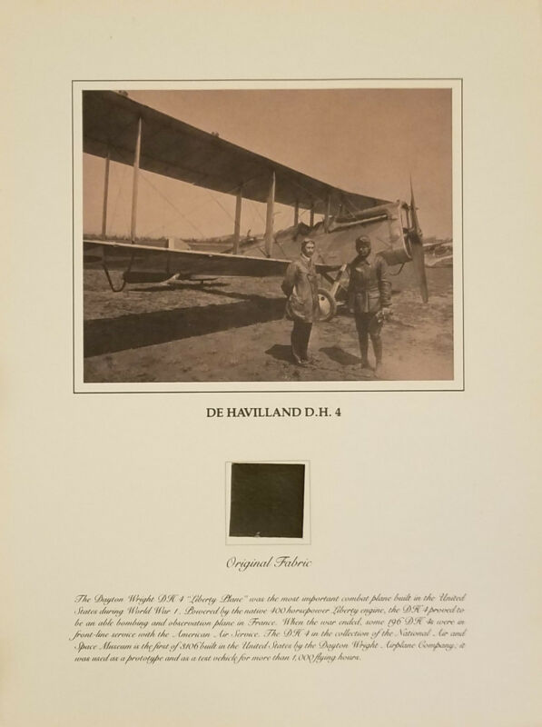 AVIATION FABRIC PRINT DE HAVILLAND DH-4 SMITHSONIAN RELIC SERIES